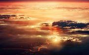 river light clouds sunset nature