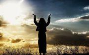 worship sky hand