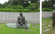 여수 애양병원 윌슨 선교사 좌상 토플부부 동상