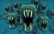 피라냐 악몽 물고기 떼를 생선 물 동물 위험한 공포 브라질 아마존 푸른 이상한