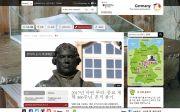 독일관광청 홈페이지 중 루터의 종교개혁 500주년 기념 페이지. 한글판으로도 볼 수 있다.