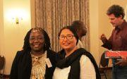 남아프리카공화국 피터마리츠버그에서 열린 선교회의에 참석한 릴리안 시윌라 박사(왼쪽)와 아톨라 롱쿠메 박사. ⓒWCC