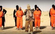 IS가 인질들을 처형하는 영상.