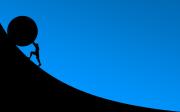 극복 스톤 롤 슬라이드 투쟁 어려움 저항 심연 도전 장애물 경험 불편 역경