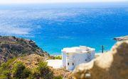 크레테 그리스 하우스 색상 돌 풍경 휴일 바다 블루 여름 물 태양 비치 아우라