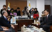 자유한국당 황교연 대표 한국교회총연합 김영태 대표회장 면담