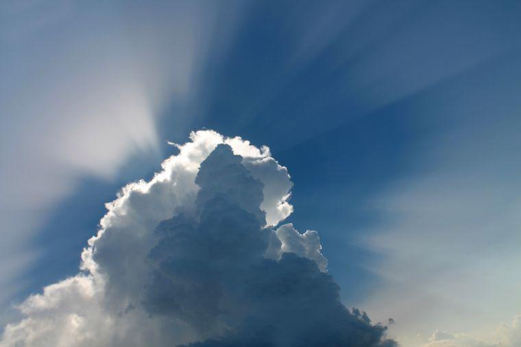 소망, 구름, 하늘, 하나님