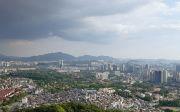 서울 상공 아파트 부동산 남산 하늘 시내