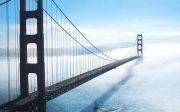 골든게이트 다리 샌프란시스코 금문교 안개 바다 풍경 중보