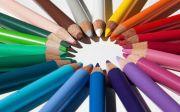 다름 연합 하나됨 색연필 컬러 연필 스타 색 원 쓰기 그리기 화려한 색깔 동그라미