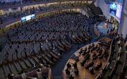 2021 한국교회 부활절연합예배가 4일 오후 사랑의교회에서 방역수칙을 준수한 가운데 진행됐다. ⓒ준비위 제공