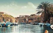 알렉산드리아 이집트 바다 호수 풍경 아프리카 중동