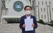예자연 사무총장 김영길 목사가 16일 오후 서울중앙지방법원 앞에서 기자회견을 하고 있다. ⓒ송경호 기자