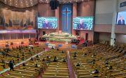 조용기 목사의 천국환송예배가 한국교회장으로 진행되고 있다. ⓒ송경호 기자