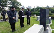 김경재 국민혁명당 대선 후보 국립서울현충원, 양화진외국인선교사묘원 참배